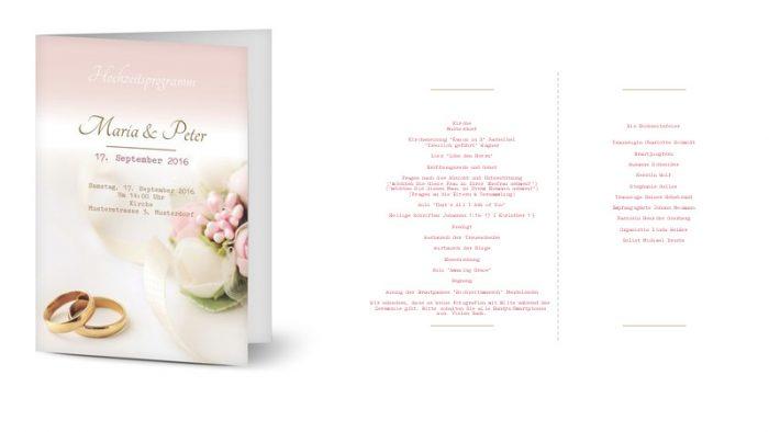Programmheft zur Hochzeit Brautissimo