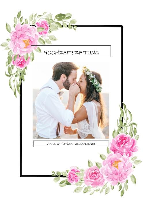 Hochzeitszeitung Vorlage Cover